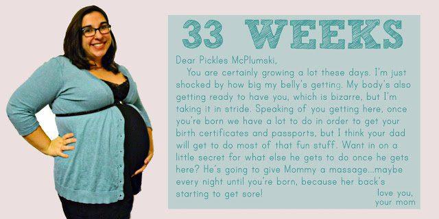 Bumpdate: 33 Weeks