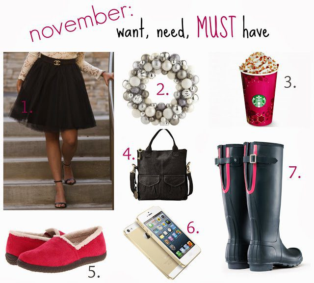 Want, Need, MUST Have! {november}