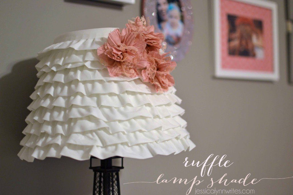 Diy ruffle lamp shade jessica lynn writes it was seriously easy and im still totally smitten with how it turned out im trying to figure out where i need another ruffle lamp shade around the house mozeypictures Gallery