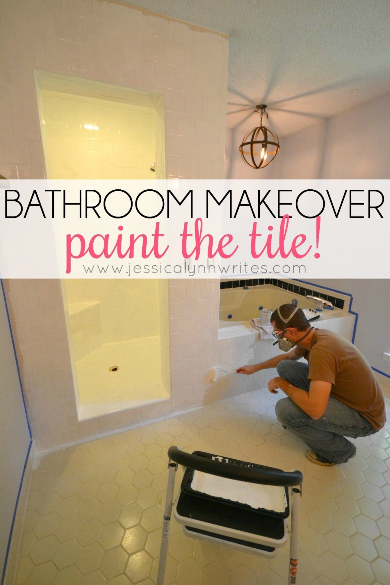 Bathroom Makeover Paint Tiles bathroom makeover (sneak peek) - jessica lynn writes