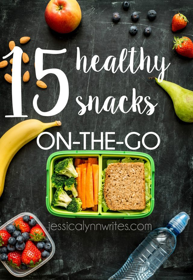 Healthy Snacks on the Go! Say bye-bye to fast food during your next road trip, & hello to healthy snacks on the go. Here are 15 family-friendly snacks to keep you from getting hangry | jessicalynnwrites.com