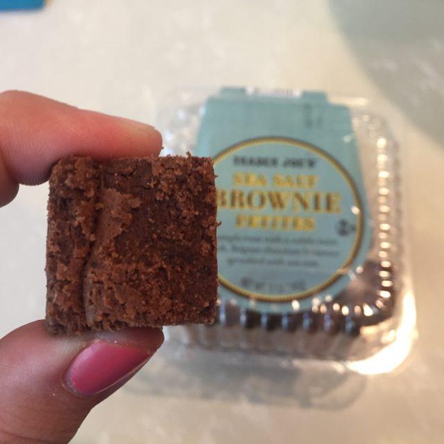 Sea Salt Brownie Petites from Trader Joe's