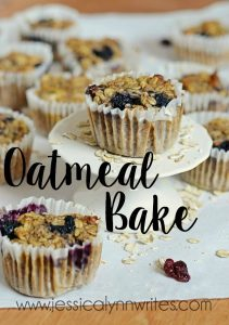 "If you like oatmeal, and want to eat it ""on-the-go,"" or just don't want to eat it with a spoon, then this Oatmeal Bake needs to happen in your life ASAP!"