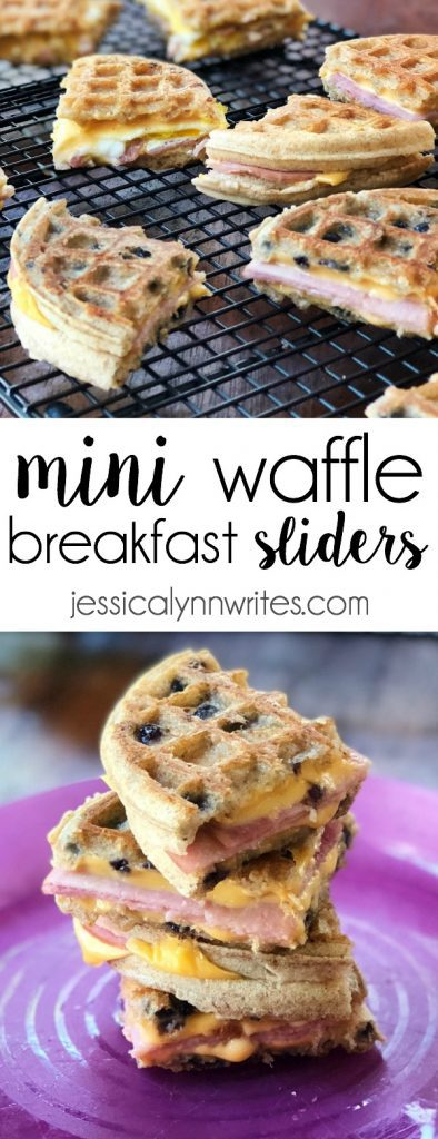 Revamp your back-to-school morning routine with some Mini Waffle Breakfast Sliders. Perfectly toasted Eggo waffles combined with ham, cheese, and egg, will help fuel little bodies for the school day ahead.